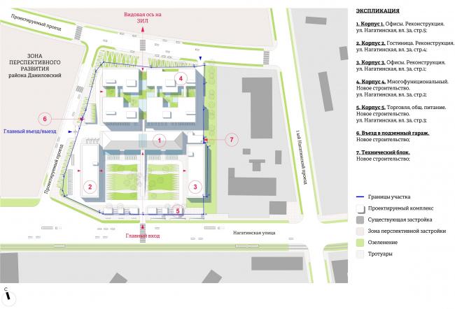 Многофункциональный комплекс «Ёлки-парк». Генеральный план с учетом перспективного развития УДС © Четвертое измерение