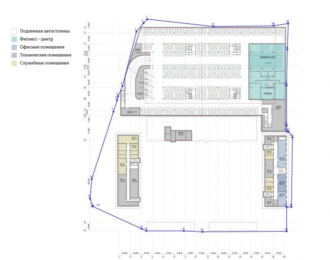 Многофункциональный комплекс «Ёлки-парк». -1 этаж © Четвертое измерение
