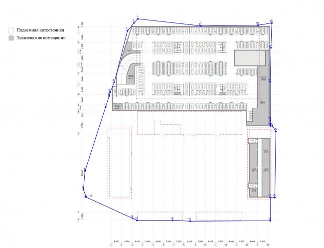 Многофункциональный комплекс «Ёлки-парк». План -2 этажа © Четвертое измерение