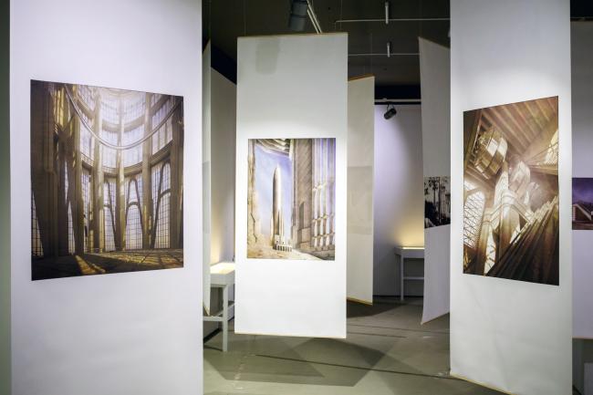 Выставка «Степан Липгарт. Семнадцатая утопия. Архитектурные проекты 2007 – 2017» / фотография © Григорий Матвеев