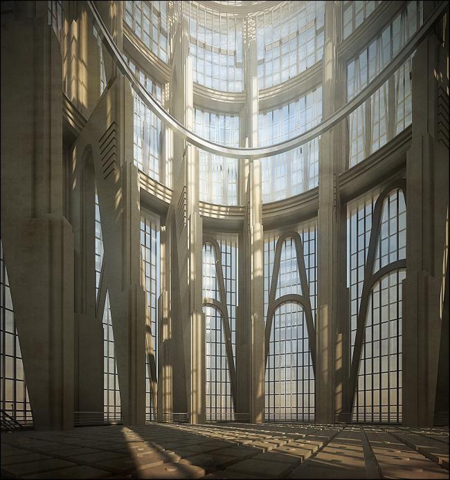 Серия «У реактора», 2014 г. Компьютерная графика. Бумажный проект © Степан Липгарт