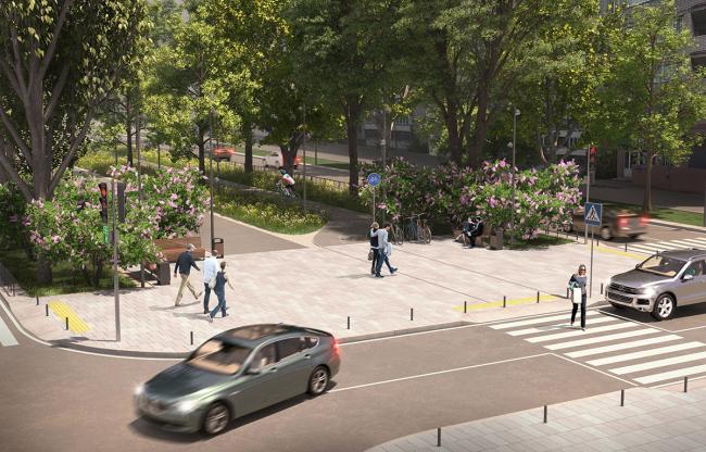 Реконструкция улиц в Саратове. Улица Рахова © Бюро SNOU Project + «Саратовгражданпроект»