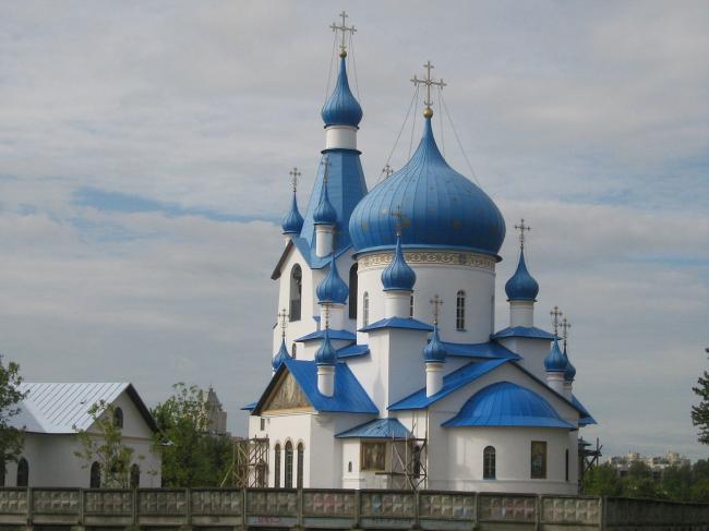 Церковь Рождества Христова на Московском шоссе. Фото: Peterburg23 via Wikimedia Commons. Лицензия CC BY 3.0