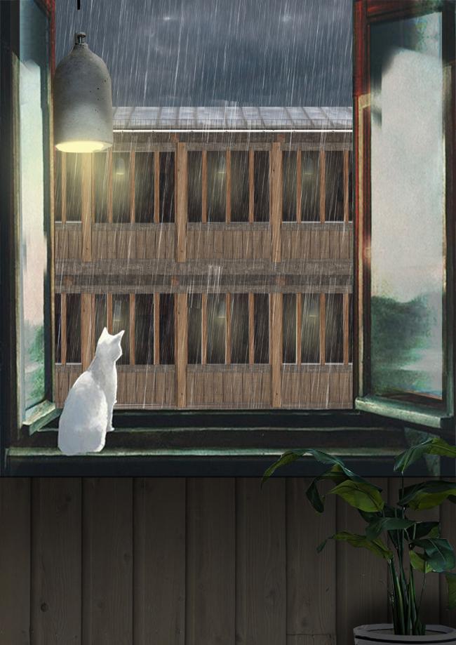 Проект Евгении Хашимовой, 3 курс БВШД. Новая Хохловка. Вид из окна. Изображение предоставлено БВШД