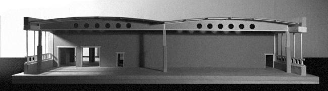 Проект Евгении Хашимовой, 3 курс БВШД. Новая Хохловка. Макет существующего положения. Изображение предоставлено БВШД