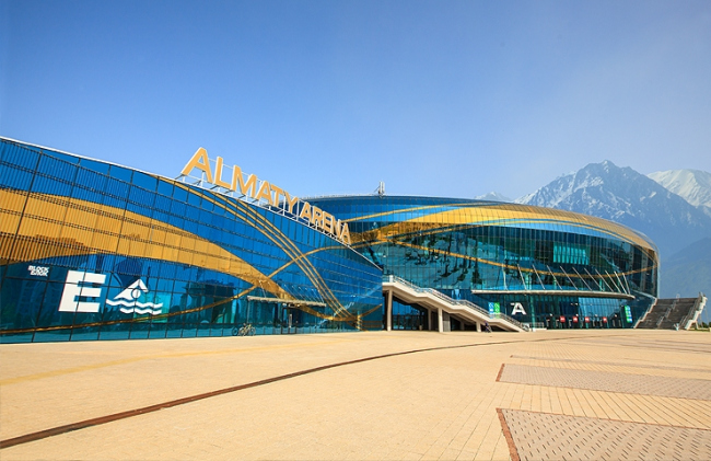 Ледовый дворец ALMATY ARENA. Фотография предоставлена компанией «Алютех»
