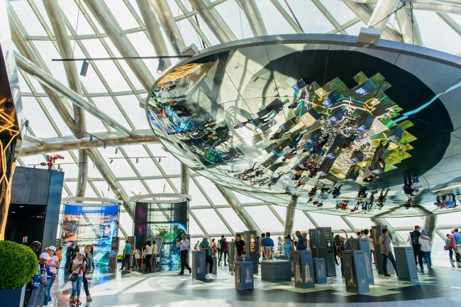 Верхний уровень «Музея будущего» – «Астана будущего». Фото © «Астана ЭКСПО-2017»