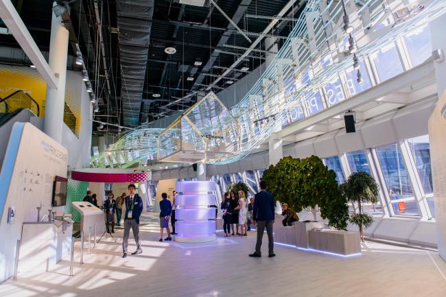Павильон лучших практик с экспозицией, также разработанной Раидом Сабба. Фото © «Астана ЭКСПО-2017»