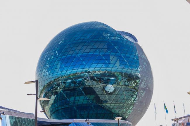 Сфера «Музея будущего» павильона  «Нур-Алем». Фото © «Астана ЭКСПО-2017»