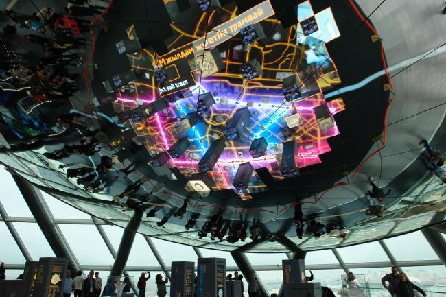 Верхний уровень «Музея будущего» – «Астана будущего». Фото © Нина Фролова