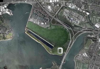 Стадион клуба «Портсмут». Проект июнь 2008 г. Вид комплекса с птичьего полета