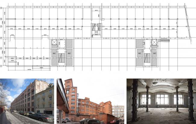 Конкурсный проект реновации первой образцовой типографии. Корпус 1. Существующее состояние © Архитектурная мастерская «Группа АБВ»