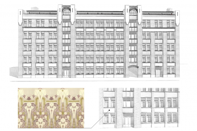 Contest project of renovating the First Exemplary Printing Works. Building 3. Sketch. Version 2 © ABV Group