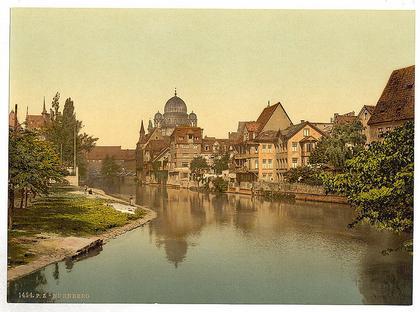 Нюрнберг. Купола главной синагоги города, разрушенной в 1938 году. Фотография 1900 года. Источник: wikipedia.org