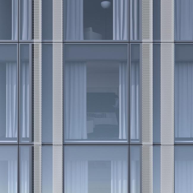 ЖК с подземной автостоянкой на Краснопресненской набережной. Ламели © Сергей Скуратов ARCHITECTS