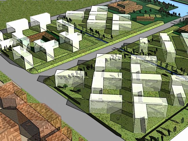 "Development concept of ""Vostochno-Kruglinsky"" residential area in Krasnodar city. Photo by courtesy of ""Ostozhenka"" Bureau"