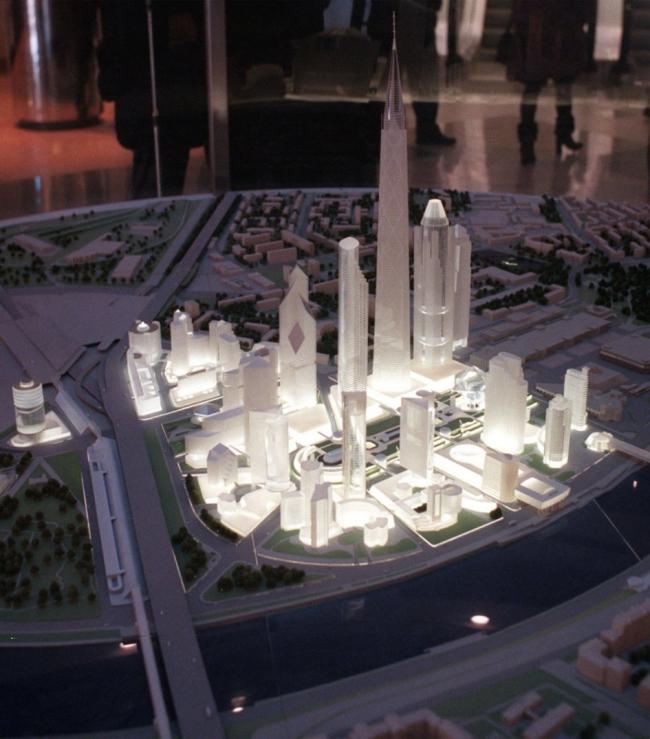 Один из первых макетов Москва-Сити с гигантским парком в центре © Музей Москва-Сити