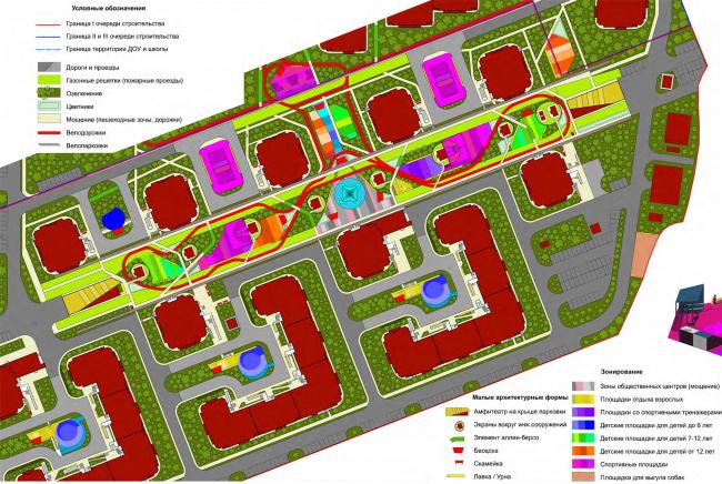 Комплексное благоустройство территории ЖК «Западное Кунцево» © ПланАР