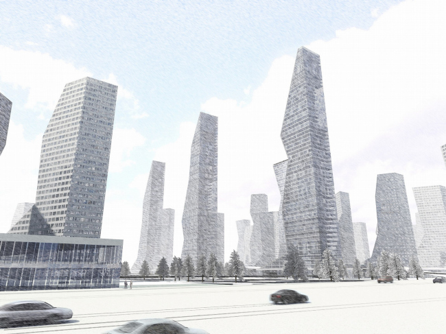 Конкурсный проект «Инфо-Сити» © АБ «Остоженка»