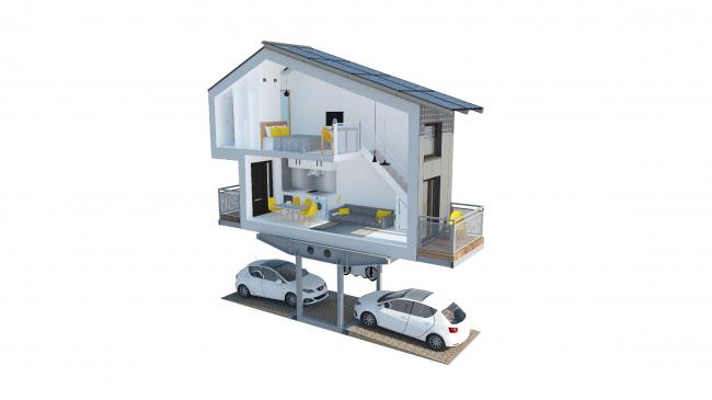 Жилые модули над парковочными местами в Лондоне © ZEDfactory