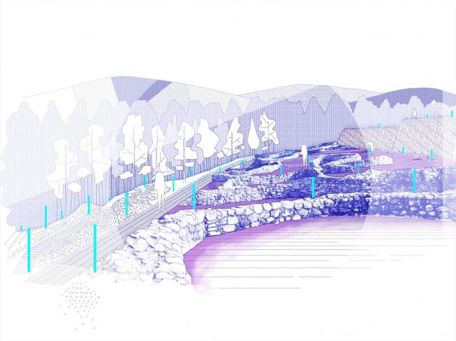 Концепция экологичной археологии, Понтеведра, Испания © AGi architects