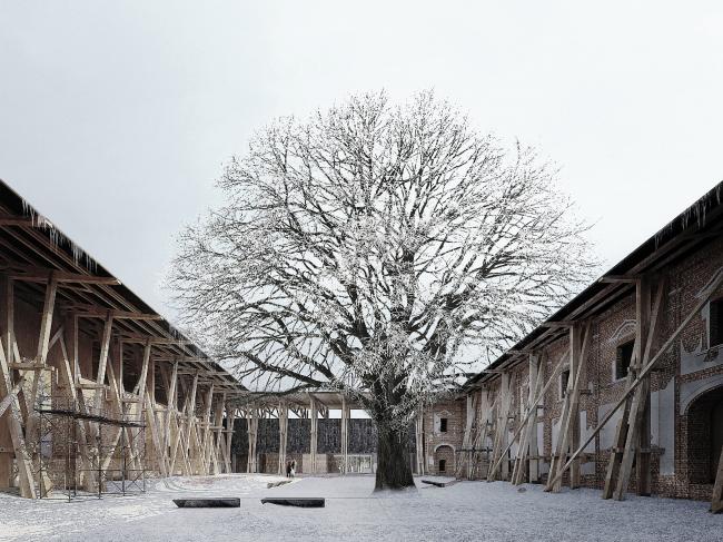 Реконструкция монастыря в реабилитационный центр, Польша ©  Jakub Grabowski