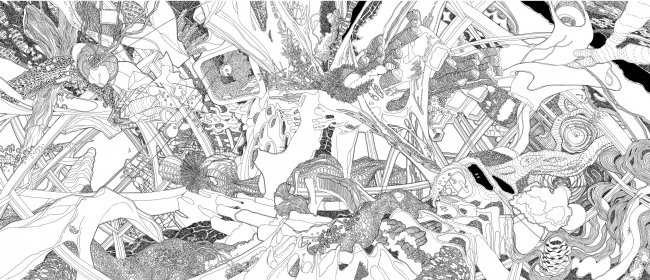 ТЦ «Мега». Часть работы Анны Андроновой «Цифровой Ренессанс», представленной на LafargeHolcim Award 2017 под именем «Жидкая эра»