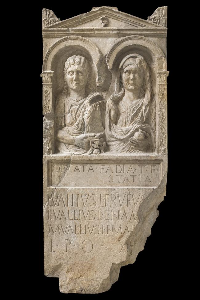 Погребальная стела Оптаты Фадии. Первая треть I в. н.э. Национальный археологический музей Аквилеи. Фото © Gianluca Baronchelli