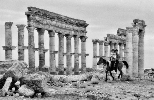 Улица «Большая колоннада» в Пальмире. Фото 1996 © Elio Ciol