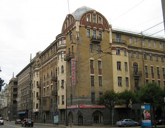 Доходный дом А. Маркова. Фото: Potekhin via Wikimedia Commons. Лицензия CC BY-SA 3.0