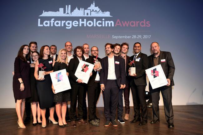 Победители европейской части премии LafargeHolcim Awards 2017. Фотография: LafargeHolcim Awards