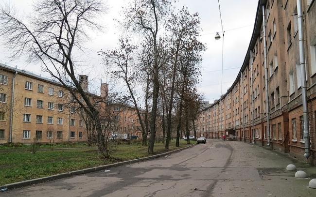 Дом-«колбаса». Фото: Rasaddin via Wikimedia Commons. Лицензия CC BY-SA 4.0