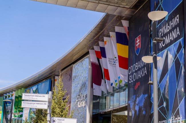 Комплекс Экспо-2017 в Астане. Международные павильоны с выставочными зонами стран-участниц. Фото © «Астана ЭКСПО-2017»