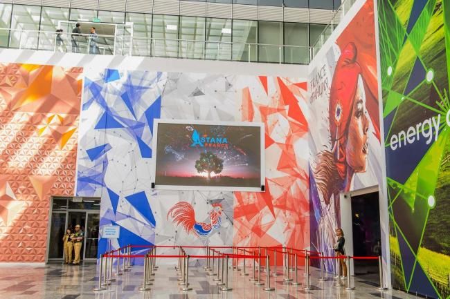 Комплекс Экспо-2017 в Астане. Входная зона экспозиции Франции. Фото © «Астана ЭКСПО-2017»