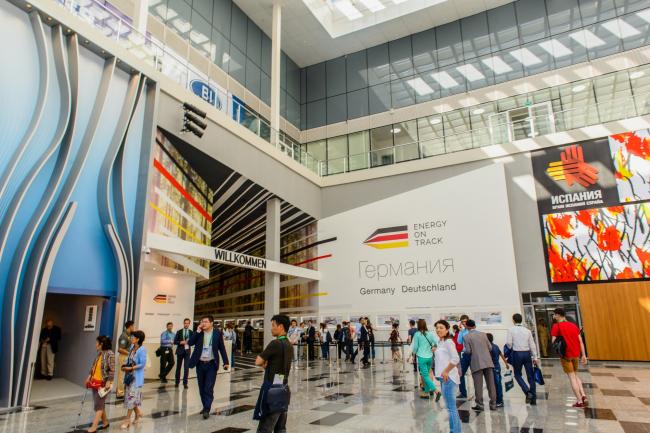Комплекс Экспо-2017 в Астане. Входная зона экспозиции Германии. Фото © «Астана ЭКСПО-2017»