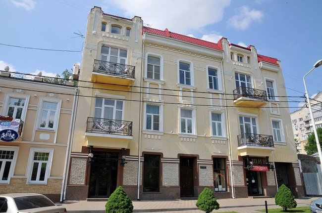 Доходный дом С.Н. Мнацакановой. Фото: Albert Kurinov via Wikimedia Commons. Лицензия CC BY-SA 4.0
