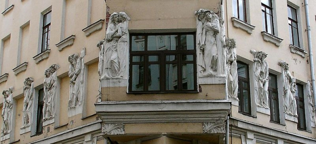 Доходный дом Г.Е. Бройдо. Фото: NVO via Wikimedia Commons. Лицензия CC-BY-SA-2.5