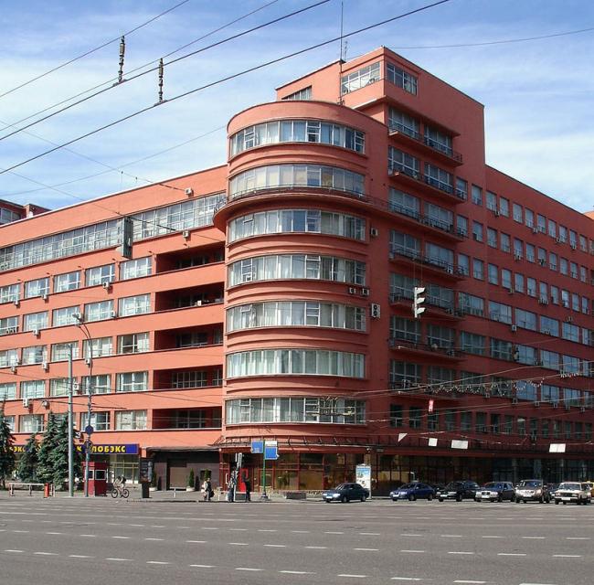 Здание Наркомзема в Москве. Фото: NVO via Wikimedia Commons. Лицензия CC BY 2.5