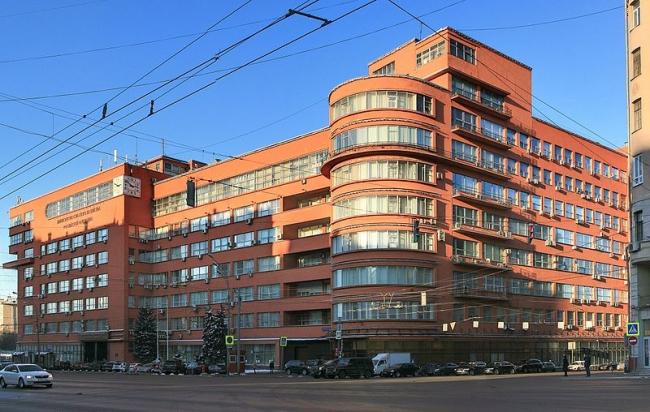 Здание Наркомзема в Москве. Фото: Ludvig14 via Wikimedia Commons. Лицензия CC-BY-SA-4.0