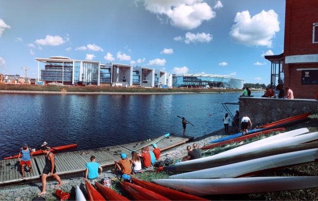 Спортивно-развлекательный центр и яхт-клуб на острове Бычий в Санкт-Петербурге. Проектировщик: «Ингмар «АСБ». Фотография предоставлена СМА