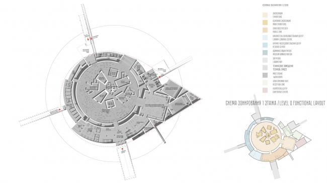 Музейно-выставочный комплекс «Оборона и блокада Ленинграда». План 1 этажа © Студия 44