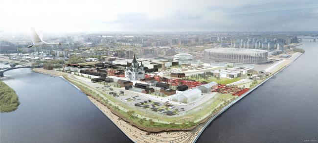 Концепция развития территории нижегородской Стрелки © бюро «Архслон»