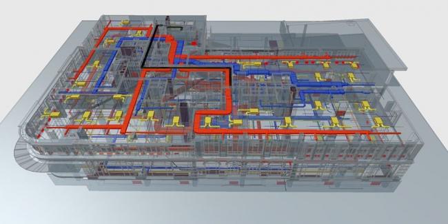 Обнаружение коллизий в инженерных системах БЦ ASTARTA © Крамалл Студио