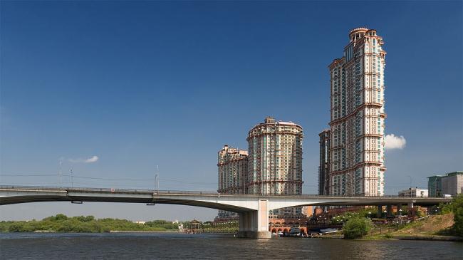 Строгинский мост. Фото: Dmitry A. Mottl via Wikimedia Commons. Лицензия CC BY-SA 3.0