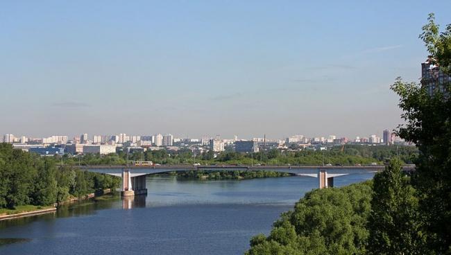 Строгинский мост. Фото: Doomych via Wikimedia Commons. Фото находится в общем доступе