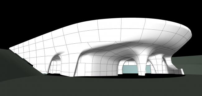 Ледяная пещера в парке Зарядье. Проект. Авторы концепции DS+R. Реализация: Концерн «Крост», ГАП Максим Малеин