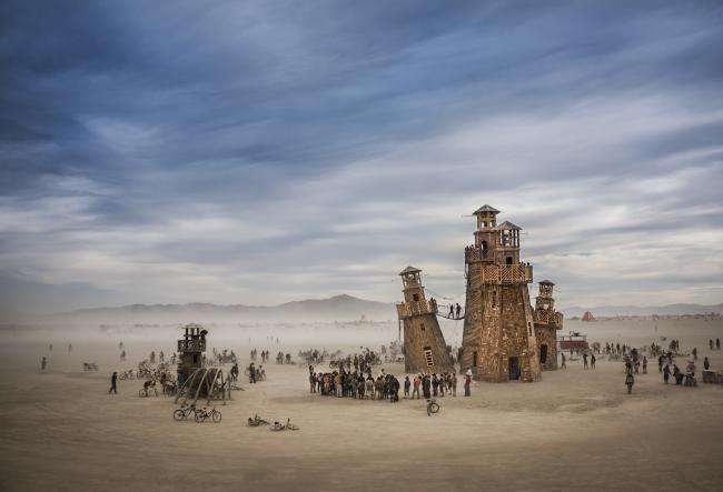 Категория «Чувство места», автор: Tom Stahl. Служба маяков в Блэк-Рок (пустыня в  штате Невада, США)