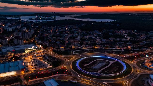 Круговой перекресток в районе Шияна в Пуле © Danijel Bartolić