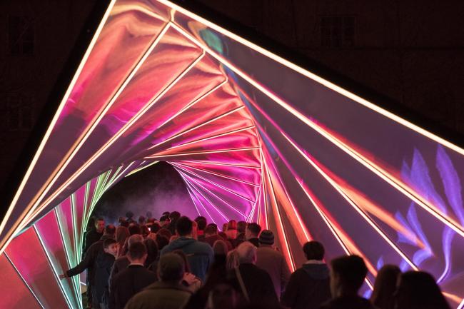 Павильон Twisted в Пуле, фестиваль света Visualia-2017 © Damil Kalogjera