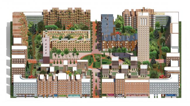 Авторы: Проект многофункционального жилого квартала. Авторы: Citizenstudio